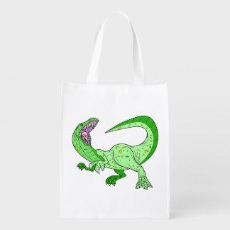 Vector -  Dinosaur Reusable Grocery Bag