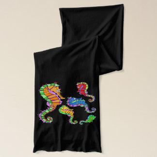 Vector  Fantasy  Seahorses Scarves