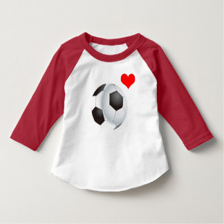 Vector Football with red heart T-Shirt