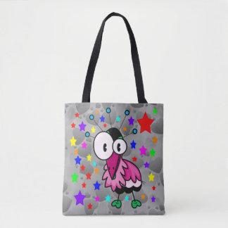 Vector Funky  Cartoon  Bird Tote Bag