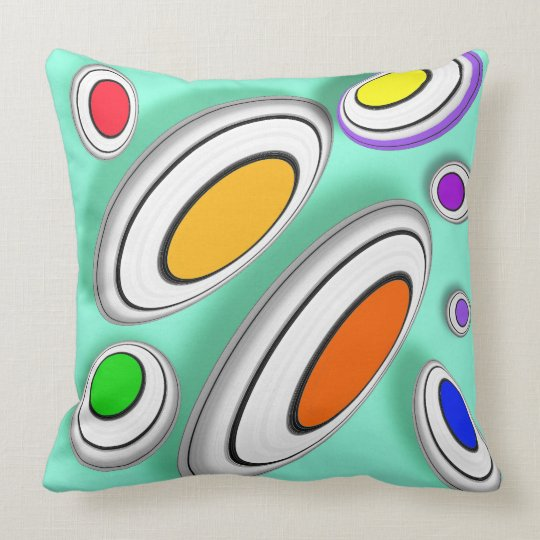 Vector geometrical pattern cushion