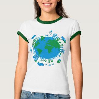 vector globe tees