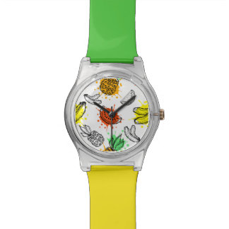 Vector Graphic Seamless Pattern Watch