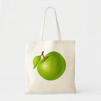 Vector  Green Apple Budget Tote Bag
