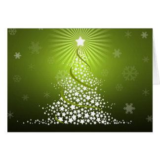 Vector Green Christmas Tree Greeting Card