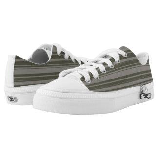 Vector Grey Stripes design Low Tops