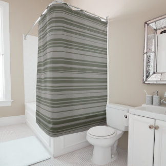 Vector Grey Stripes design Shower Curtain