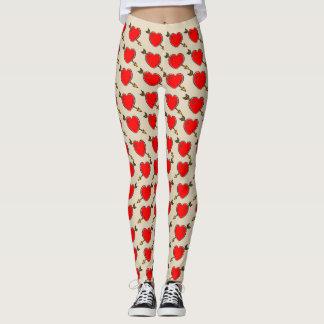 Vector Heart with Arrow. Leggings