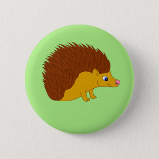 Vector illustration Hedgehog 6 Cm Round Badge