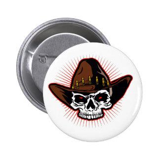 Vector illustration of Cowboy skull 6 Cm Round Badge