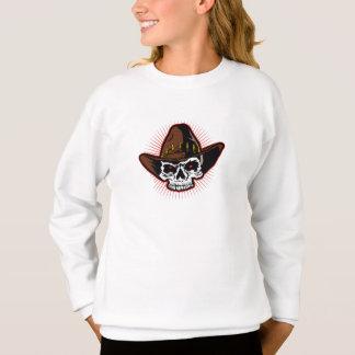 Vector illustration of Cowboy skull Sweatshirt