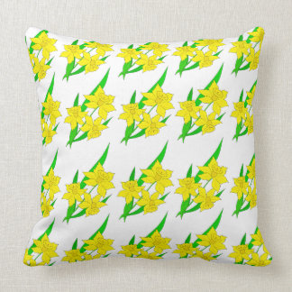 Vector illustration with daffodil cushion