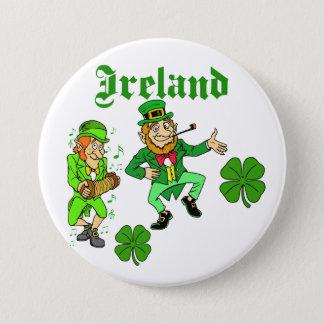 Vector - Leprechaun Clover  Ireland 7.5 Cm Round Badge