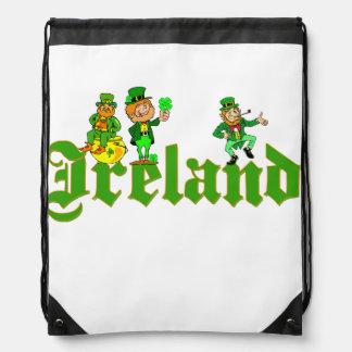 Vector - Leprechaun Clover  Ireland Drawstring Bag