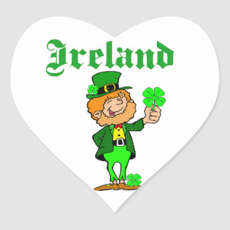 Vector - Leprechaun Ireland Heart Sticker