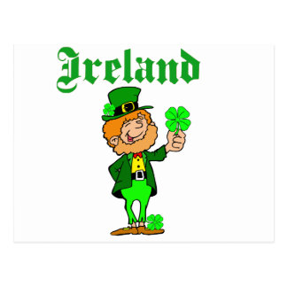 Vector - Leprechaun Ireland Postcard