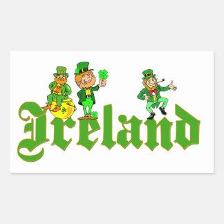 Vector - Leprechaun Ireland Rectangular Sticker