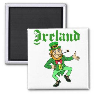 Vector - Leprechaun Ireland Square Magnet