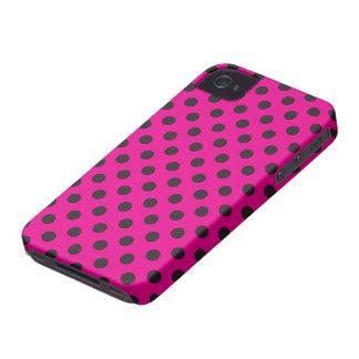Vector Magenta & Black Polka Dot iPhone Case