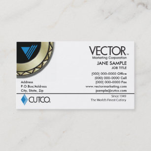 Cutco business cards zazzle uk vector marketing business card reheart Gallery