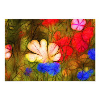Vector more flower meadow with many colorful flowe photo print