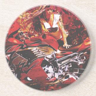 vector motorcycle girl jpg coasters