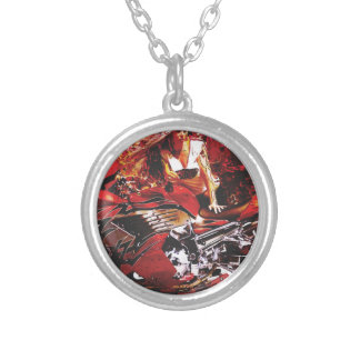 vector motorcycle girl jpg personalized necklace