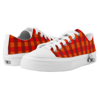 Vector Orange  checked pattern Low Tops