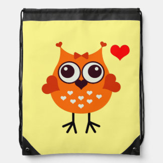 Vector Owl Drawstring Bag