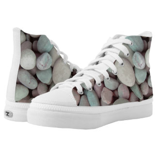 Vector  pebbles high tops