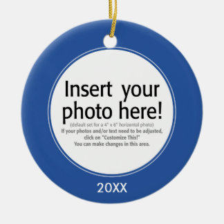 Vector Photo Frame - DOUBLE-SIDED Christmas Ornament