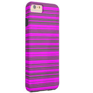Vector Purple and grey Stripes Tough iPhone 6 Plus Case