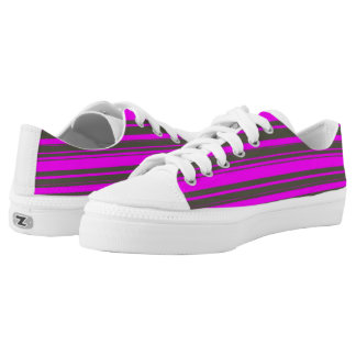 Vector Purple and grey Stripes  Zipz Printed Shoes