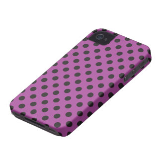 Vector Purple & Black Polka Dot iPhone Case