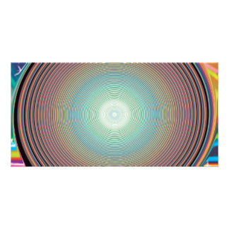 Vector Rainbow Colorful Background 2222 DIGITAL PA Personalized Photo Card