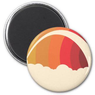 Vector Rainbow 6 Cm Round Magnet