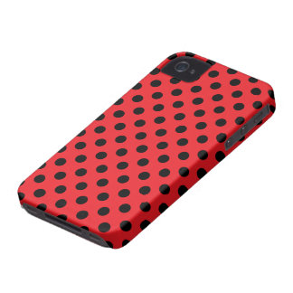 Vector Red & Black Polka Dot iPhone Case