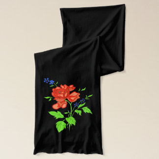Vector - Red rose Scarf