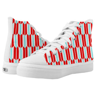 Vector Red White Blue  Geometric Printed Shoes