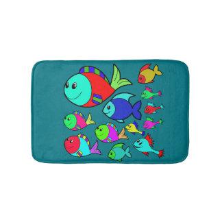 Vector  Sea fishes Bath Mat