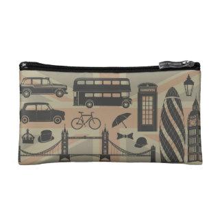 vector set of London landmarks Britain Makeup Bag