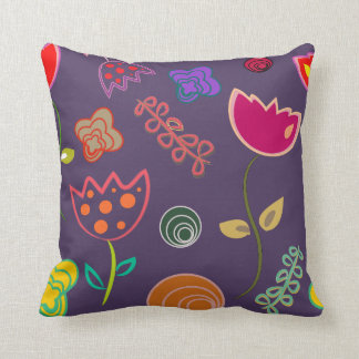 Vector Shapes Flower Pillow