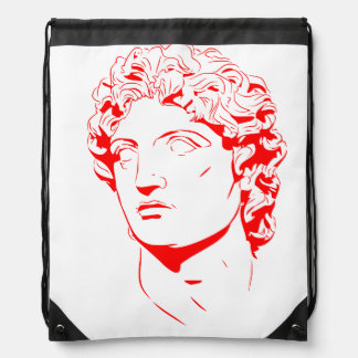 Vector Silhouette Ancient God Drawstring Bag