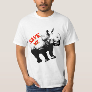 Vector  Silhouette Rhino  Save Me T-Shirt