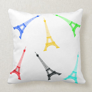 Vector Silhoutte Eiffel Tower Cushion