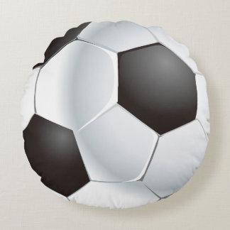 Vector Soccer Ball Round Cushion