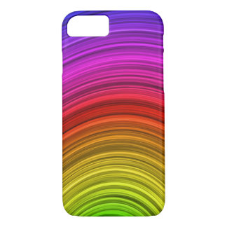 Vector Spiral Rainbow Background iPhone 8/7 Case