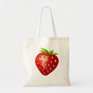 Vector  Strawberry Tote Bag