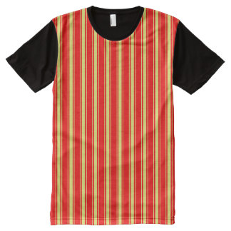 Vector Stripes seamless pattern All-Over Print T-Shirt