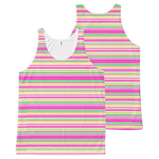 Vector Stripes seamless pattern All-Over Print Tank Top
